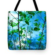 Nature's Gifts Of Blue And Green Tote Bag