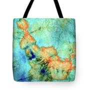 Blue And Orange Abstract - Time Dance - Sharon Cummings Tote Bag