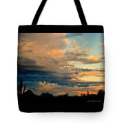Blue And Orange Sunset Tote Bag