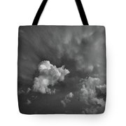 Blue And Pink Clouds In Black And White  Tote Bag