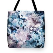 Blue And Purple Tote Bag