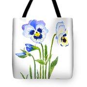 Blue And Purple Pansies  Tote Bag