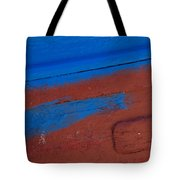 Blue And Red Abstract Tote Bag