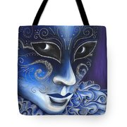 Blue And Sliver Carnival Flair  Tote Bag