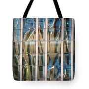 Blue And Tan Abstract Tote Bag