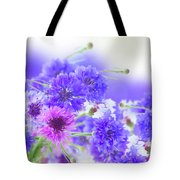 Blue And Violet Cornflowers Tote Bag