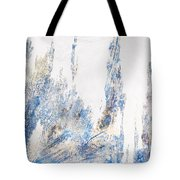 Blue And White Art - Ice Castles - Sharon Cummings Tote Bag