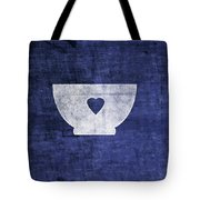 Blue And White Bowl- Art By Linda Woods Tote Bag