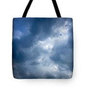 Blue And White Cloud Formations Tote Bag