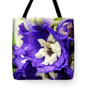 Blue And White Delphiniums Tote Bag