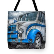 Blue And White Divco Tote Bag