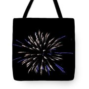 Blue And White Fireworks Tote Bag
