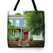 Blue And White House Tote Bag