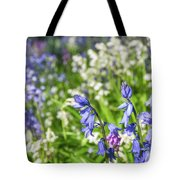 Blue And White Hyacinth Flowers Tote Bag