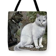 Blue And White Short Haired Cats Tote Bag