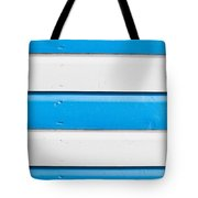 Blue And White Wood Tote Bag