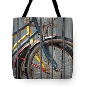 Blue And Yellow Bikes Tote Bag