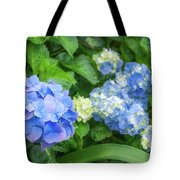 Blue And Yellow Hortensia Flowers Tote Bag