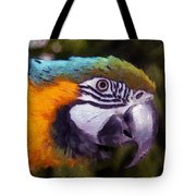 Blue-and-yellow Macaw Tote Bag