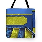 Blue And Yellow Shadows Tote Bag
