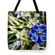 Blue Anemone Tote Bag