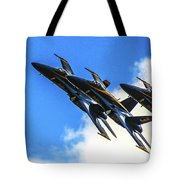 Blue Angel Fly By Tote Bag