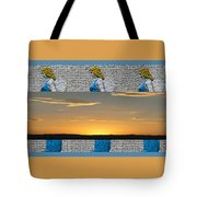 Blue Angels At Sunset Tote Bag