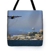 Blue Angels C130 Fat Albert Passes Alcatraz Tote Bag