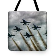 Blue Angels In Formation Tote Bag