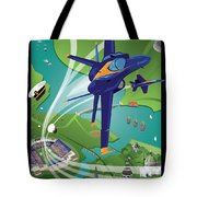 Blue Angels Over Annapolis Usna Tote Bag