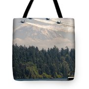 Blue Angels Over Lake Washington Tote Bag