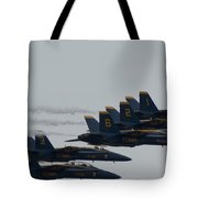 Blue Angels Over Show Center  Tote Bag