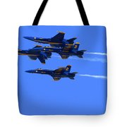 Blue Angels Perform Over San Francisco Bay Tote Bag