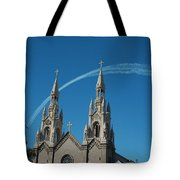 Blue Angels Soaring Tote Bag by Suzanne Gaff