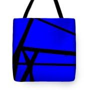 Blue Angle Abstract Tote Bag