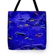 Blue Aquarium Tote Bag