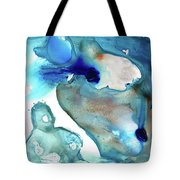 Blue Art - The Meaning Of Life - Sharon Cummings Tote Bag