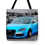 Blue Audi Tote Bag