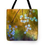 Blue Autumn Berries Tote Bag by Judi Bagwell