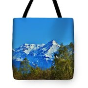 Blue Autumn Sky Tote Bag