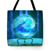 Blue Ball Tote Bag