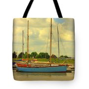 Blue Barge Tote Bag