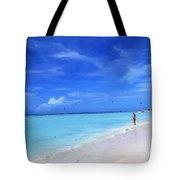 Blue Beach Tote Bag