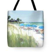 Blue Beach Umbrellas, Crescent Beach, Siesta Key - Wide Tote Bag