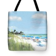 Blue Beach Umbrellas, Point Of Rocks, Crescent Beach, Siesta Key Tote Bag