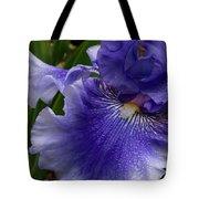 Blue Bearded Iris Tote Bag