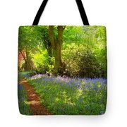 Blue Bells  Flower Tote Bag