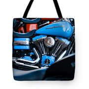 Blue Bike Tote Bag by Tony Reddington
