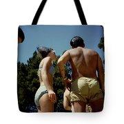 Blue Bikini Group Tote Bag