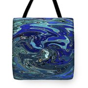 Blue Bird Abstract Tote Bag